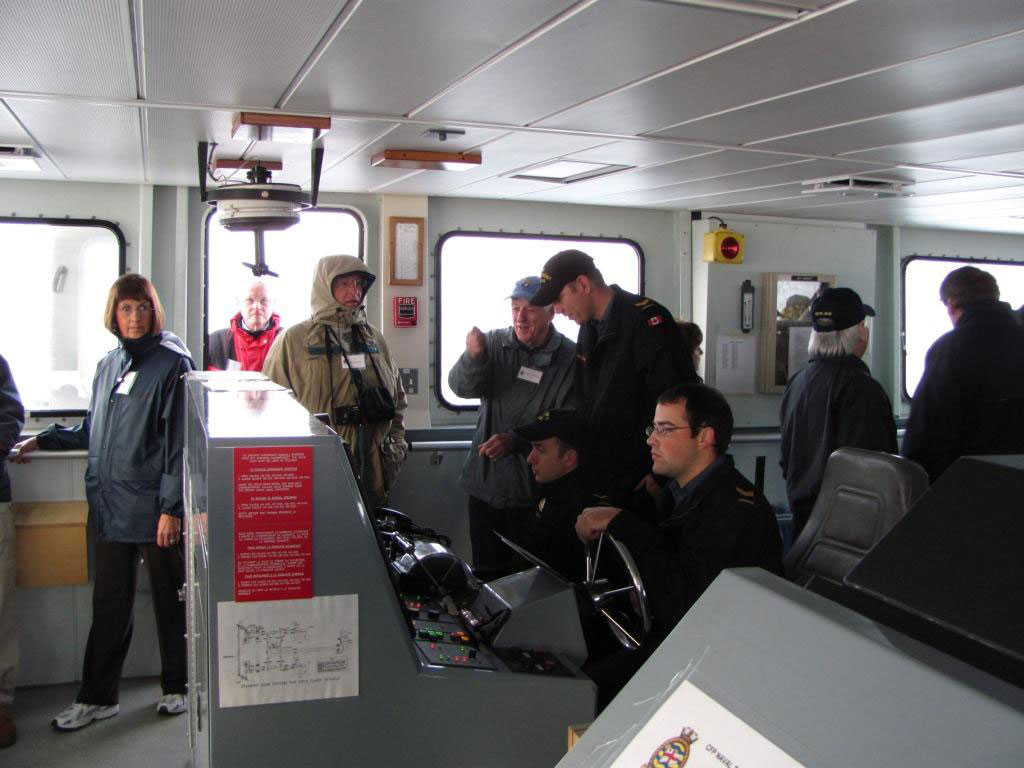 Orca's Bridge Crew & Visitors