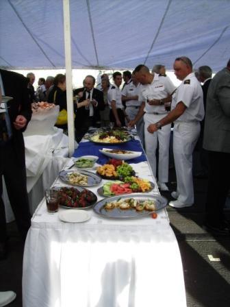 Reception aboard HMCS Calgary