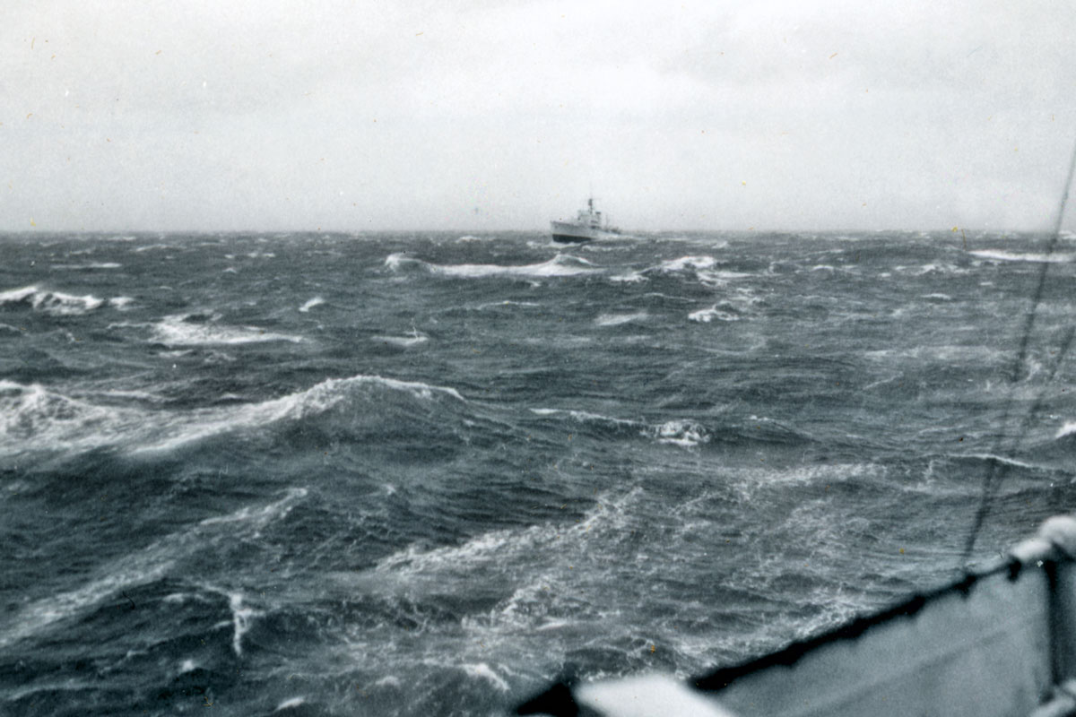 HMCS Lanark lagging – June, 1964.
